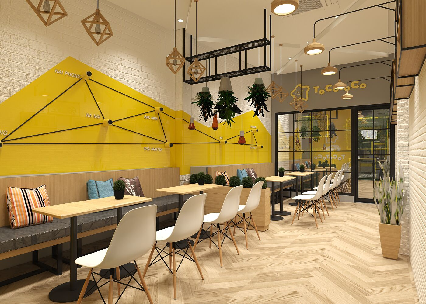 Toco Milktea Shop With Images Cafe Interior Design Bakery