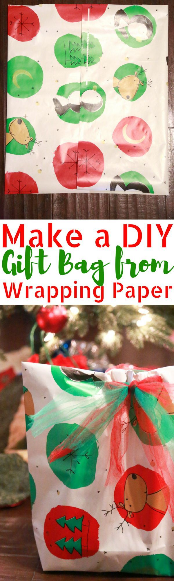 DIY Gift Bag from Wrapping Paper