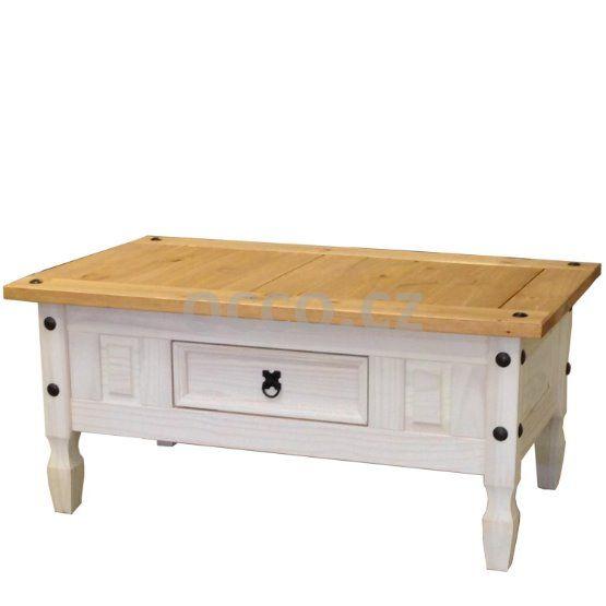 Konferenční stolek CORONA bílý vosk 1639