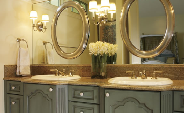 This is kind of a cool idea - large plain wall mirror with a couple ...