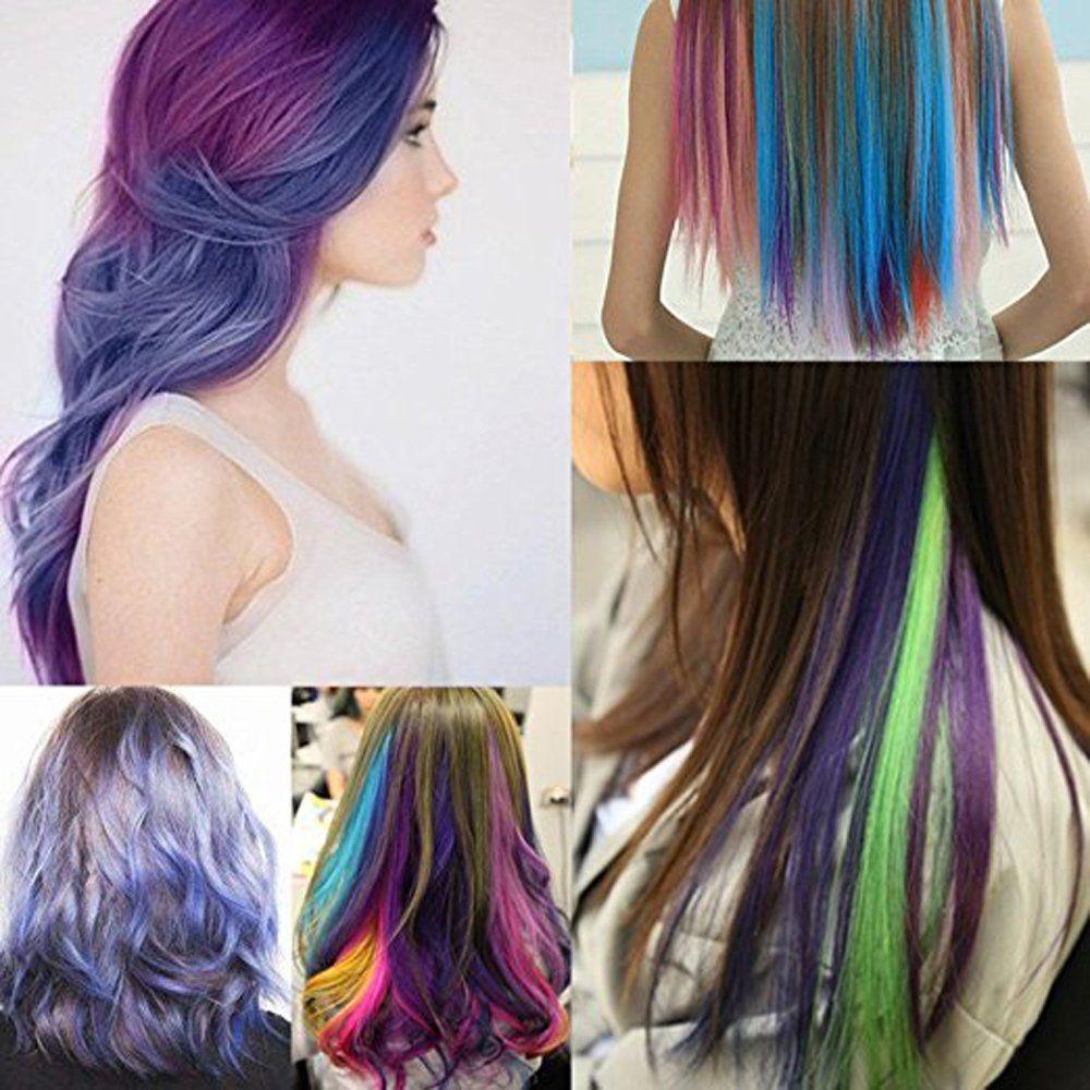 Hair Chalk On Tumblr Hair Styles Hair Streaks Long Hair Styles