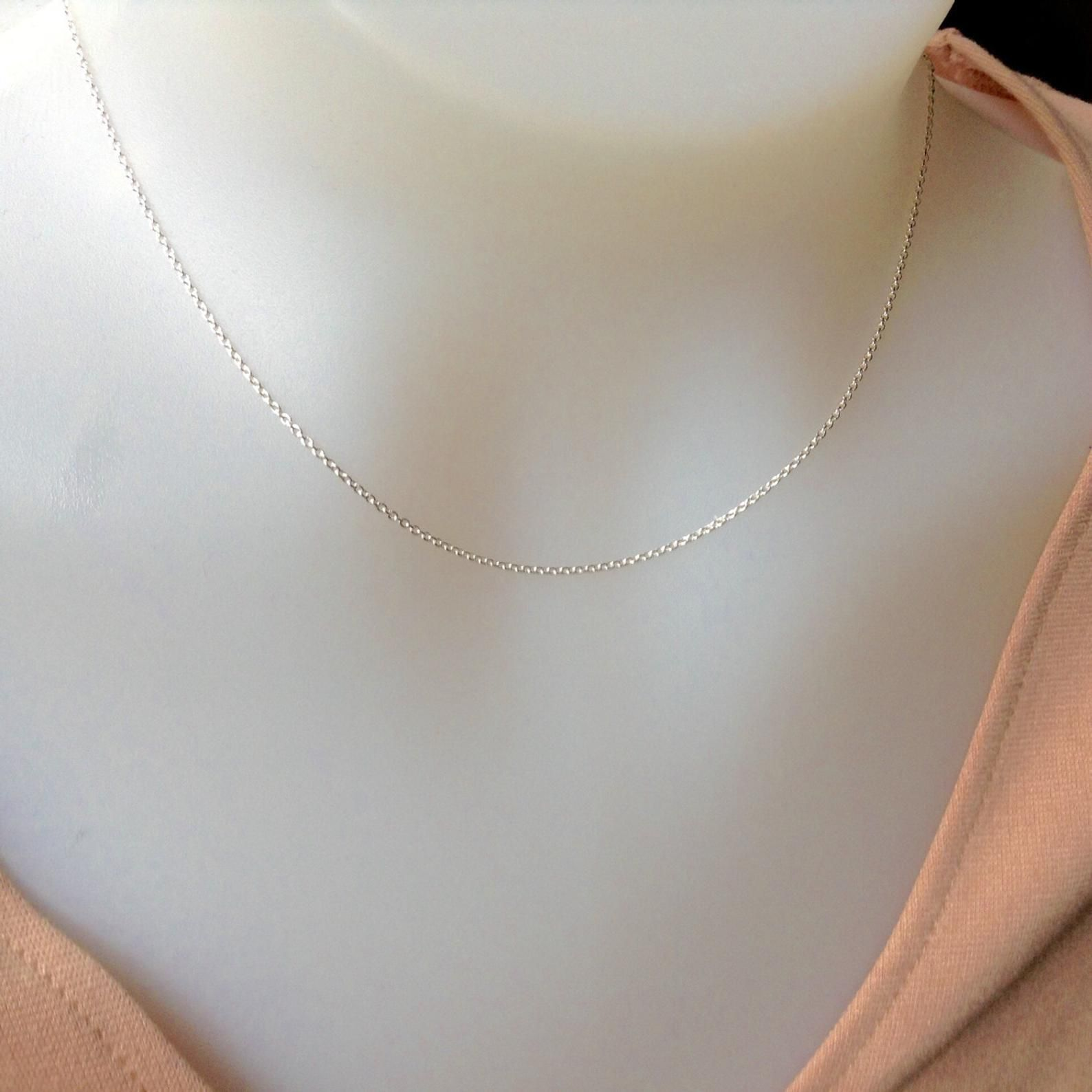 Sterling Silver Chain 16 Inch 1 2mm Sterling Silver Necklace Etsy Silver Necklace Sterling Silver Chains Sterling Silver Necklaces