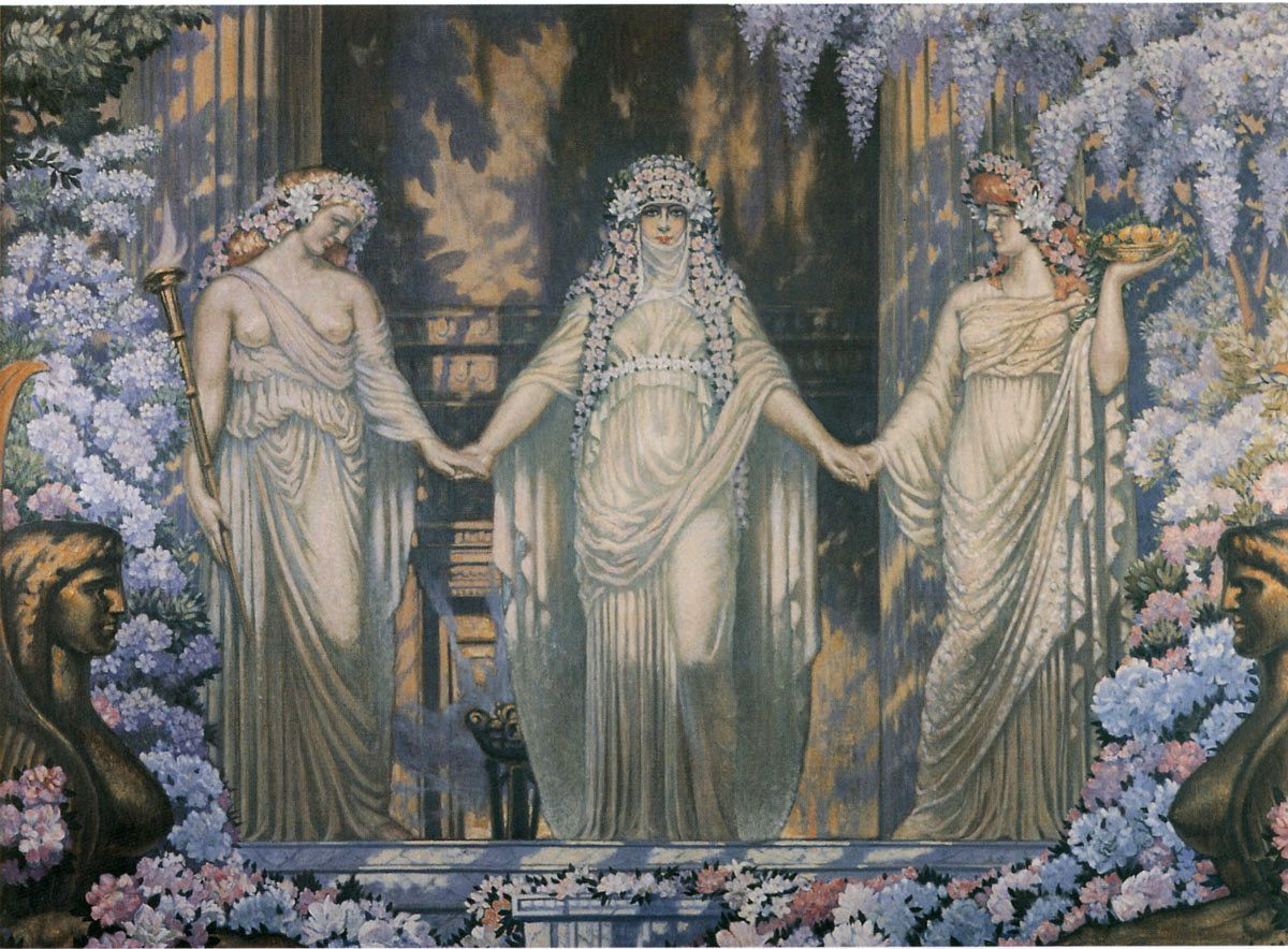 The Women Of Eleusis Jean Delville Art Painting