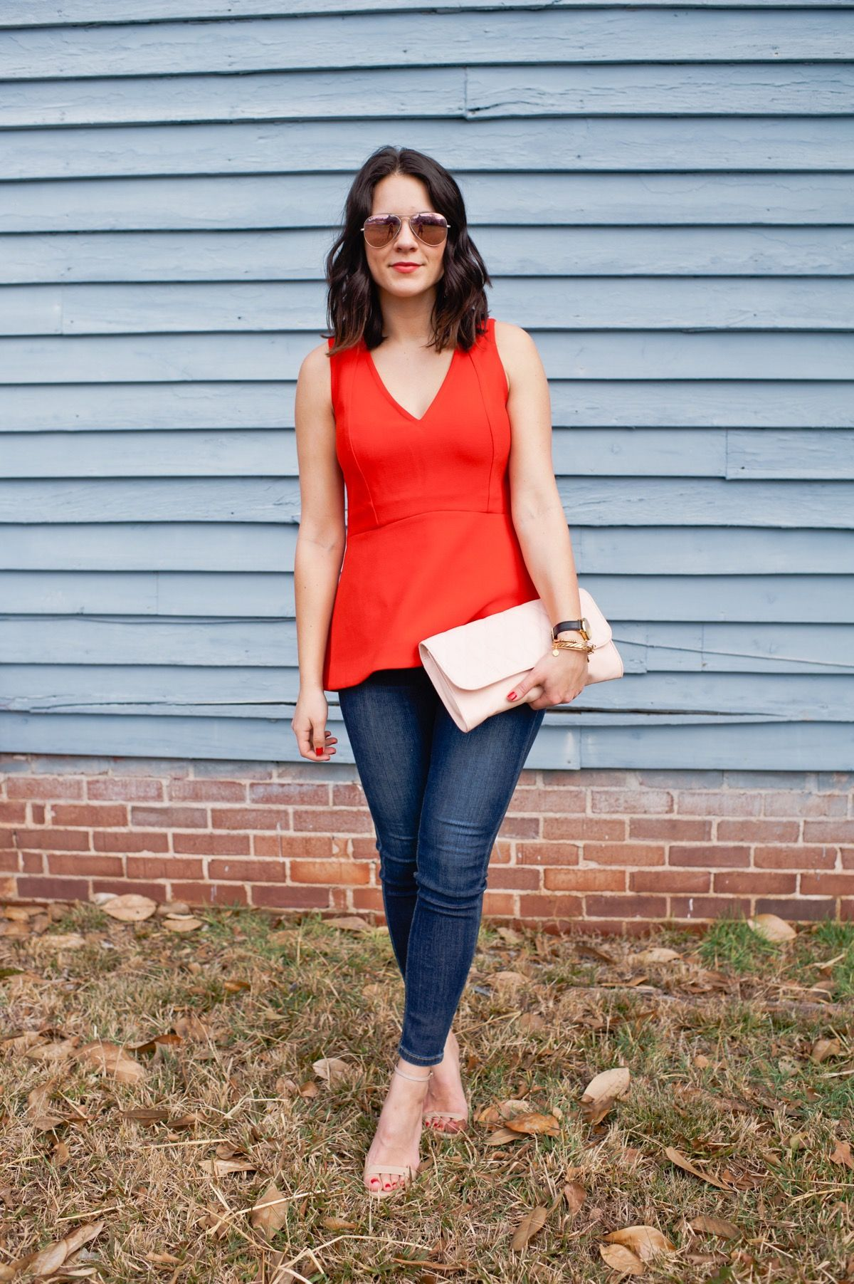 82d8b41b Pink and red color block outfit idea | My Style Vita | Color ...
