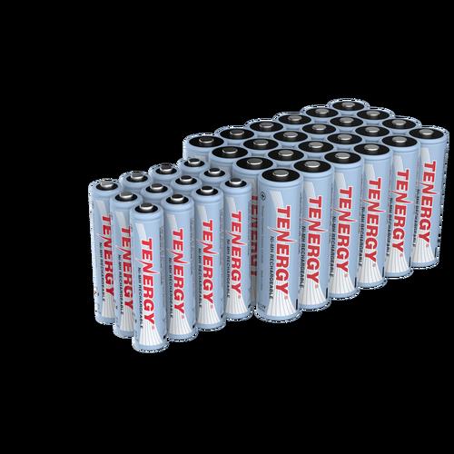 Combo Tenergy Nimh Rechargeable Batteries 12aa 12aaa Rechargeable Batteries Nimh Cordless Phone