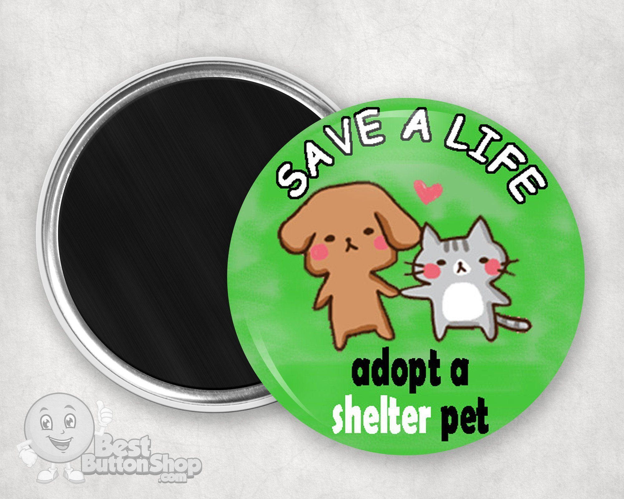 Save A Life Adopt A Shelter Pet Quote Animal Pet Rescue Magnet