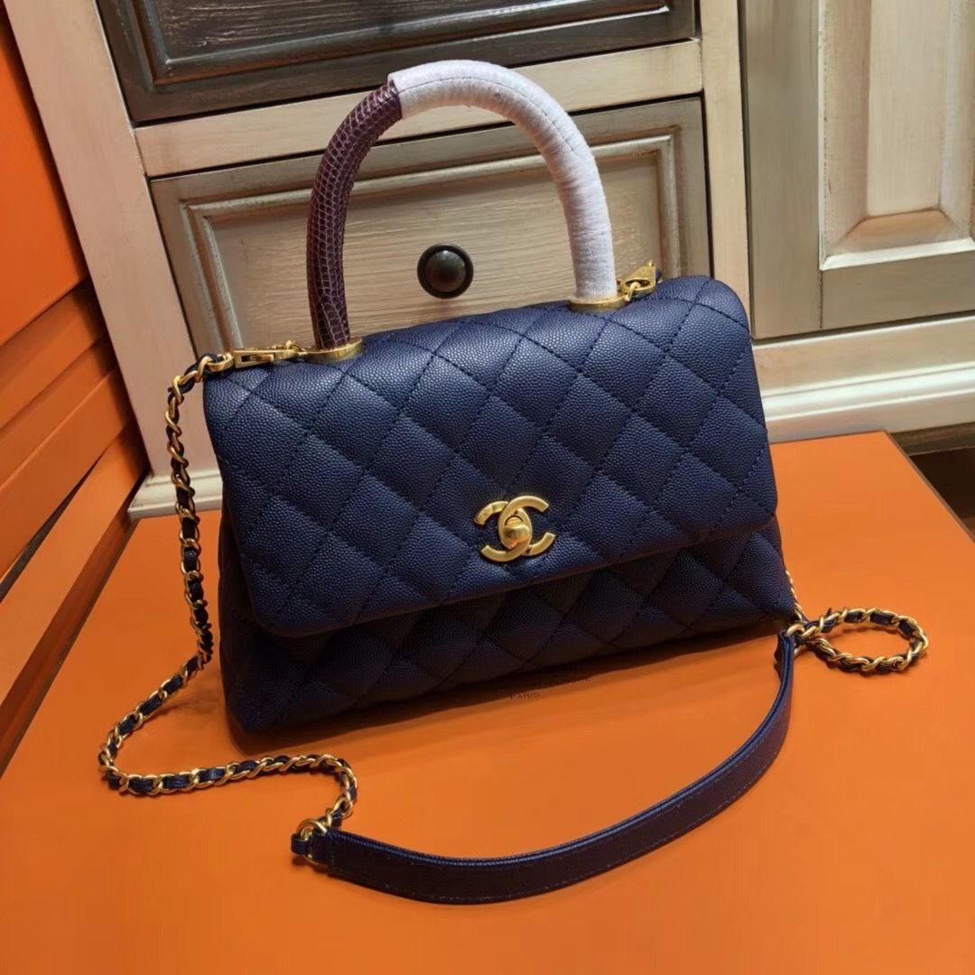 5b97314c07ea Chanel Blue Calfskin Lizard Coco Handle Small Bag 2 - Bella Vita Moda   chanel  chanelbag  chanellover  chanelforsale  chanelcocobag  chaneladdict   baglover ...