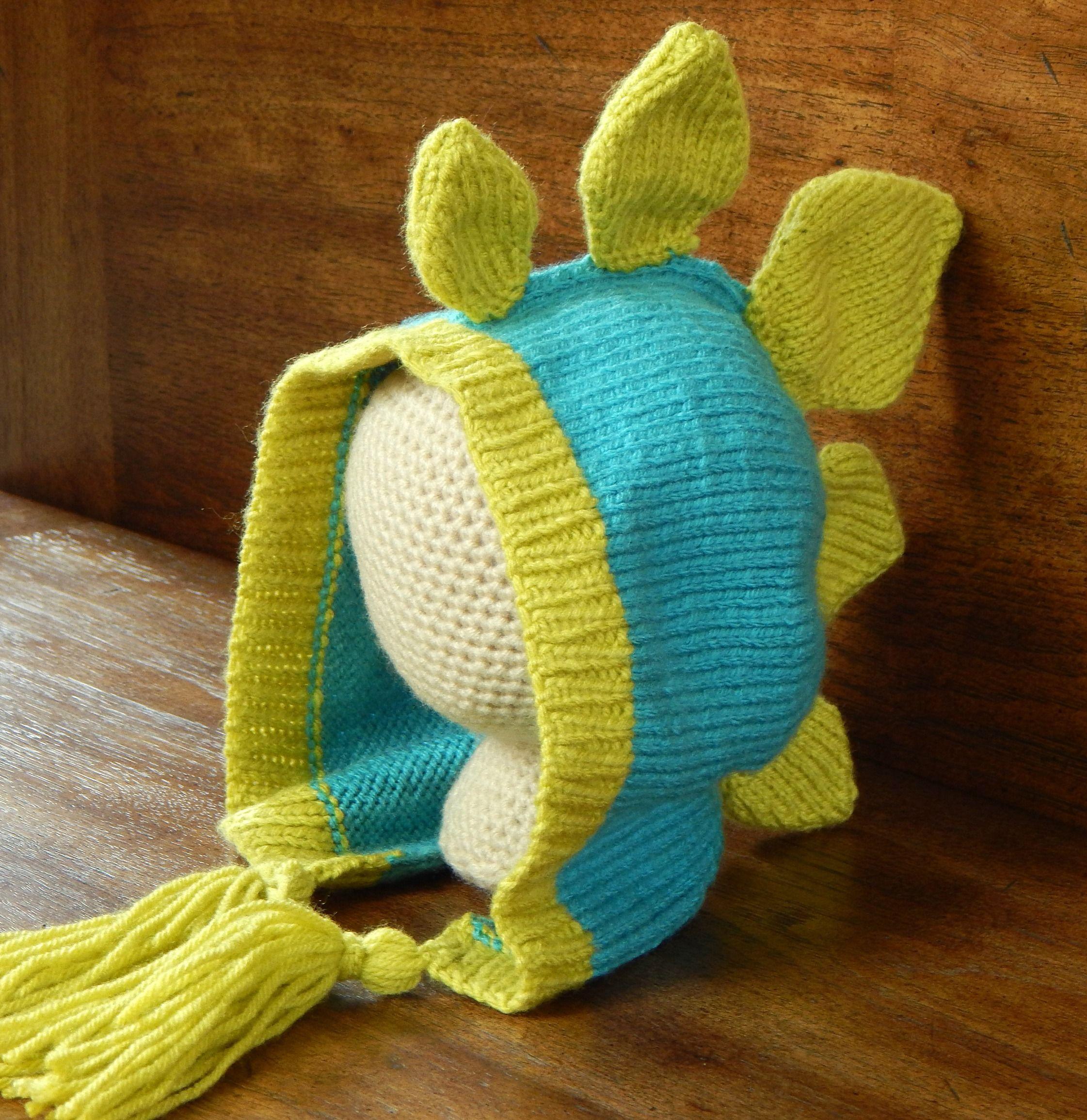 Adult Knit Dinosaur Hat - Stegosaurus Pattern : Knitting Pattern ...