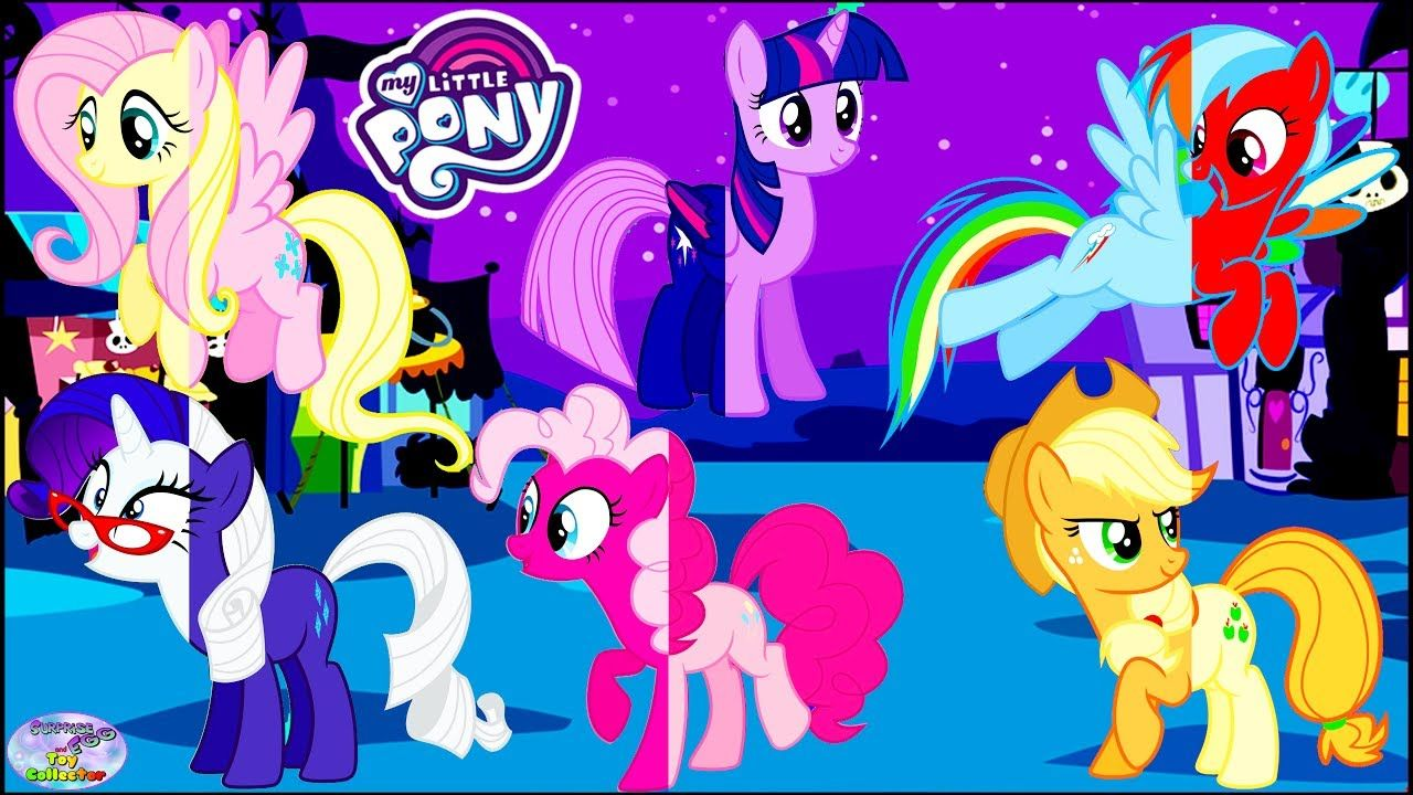 My Little Pony Coloring Pages Nightmare Moon : My little pony mane transforms color swap princess celestia