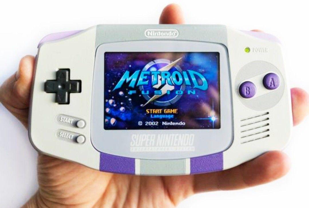 Gba Game Boy Advance Custom Shell Mod Gameboy Nintendo Systems Custom Consoles