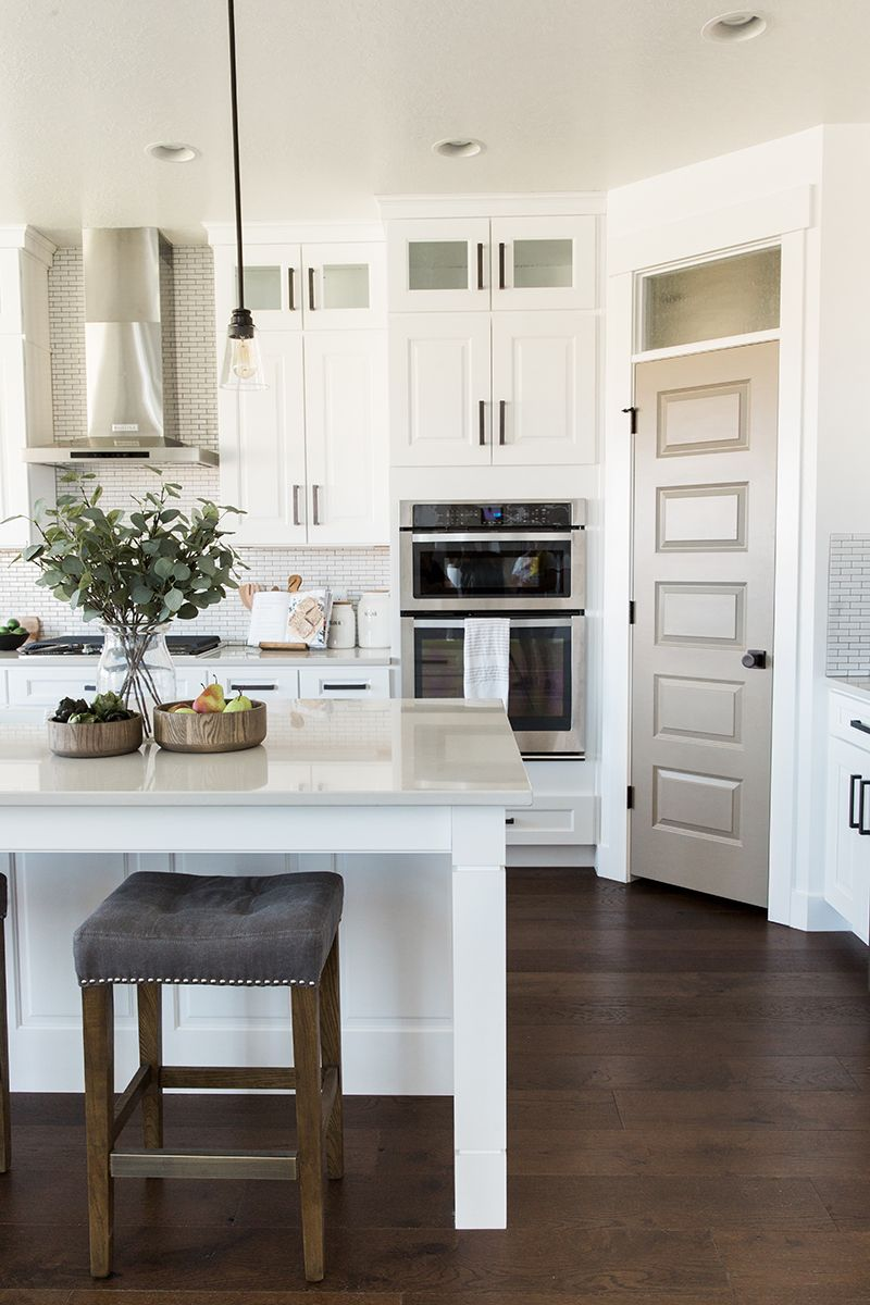 The classic but modern farmhouse kitchen pantry - Modern farmhouse kitchen colors ...