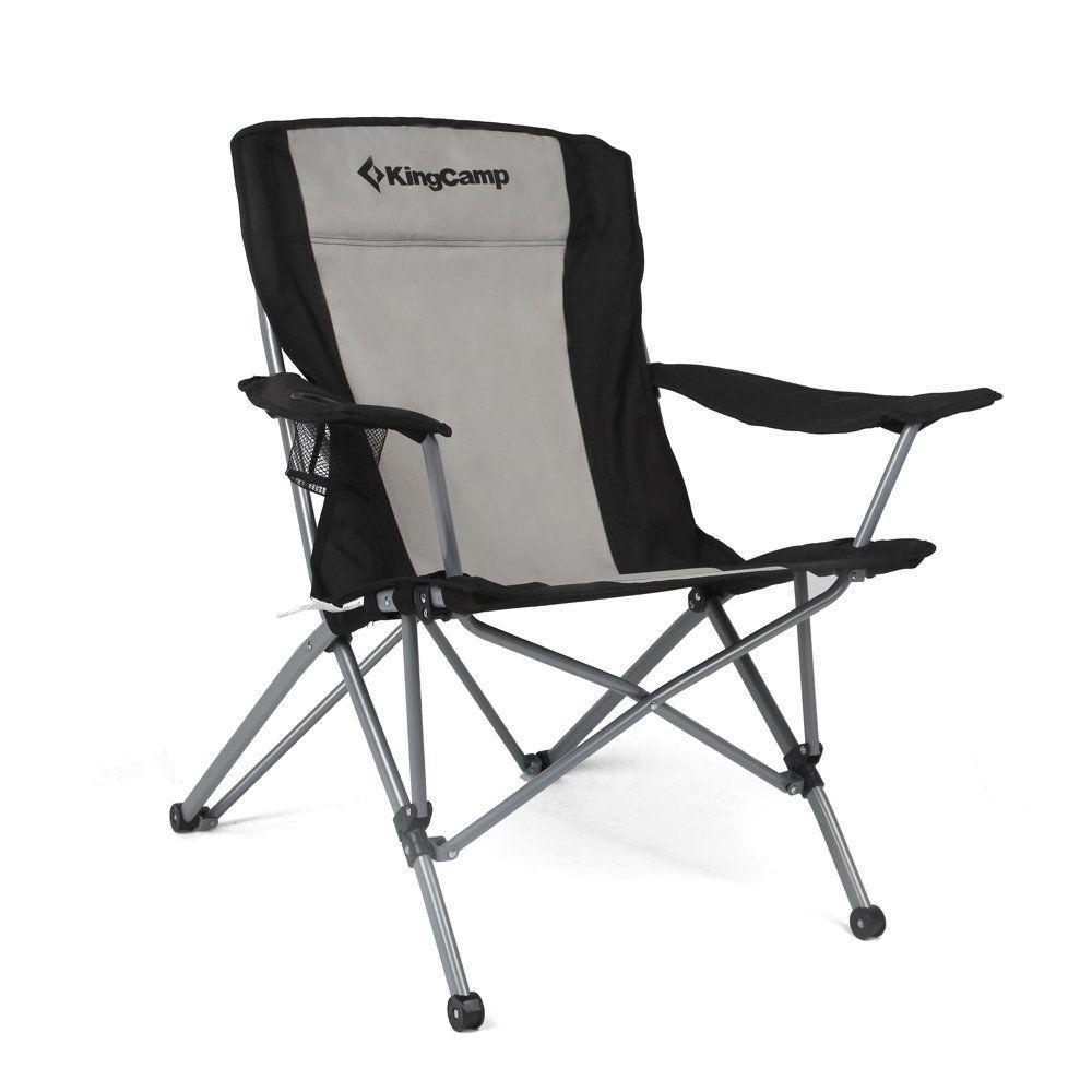 KingCamp Heavy Duty Folding Arm Chair with Comfotable High