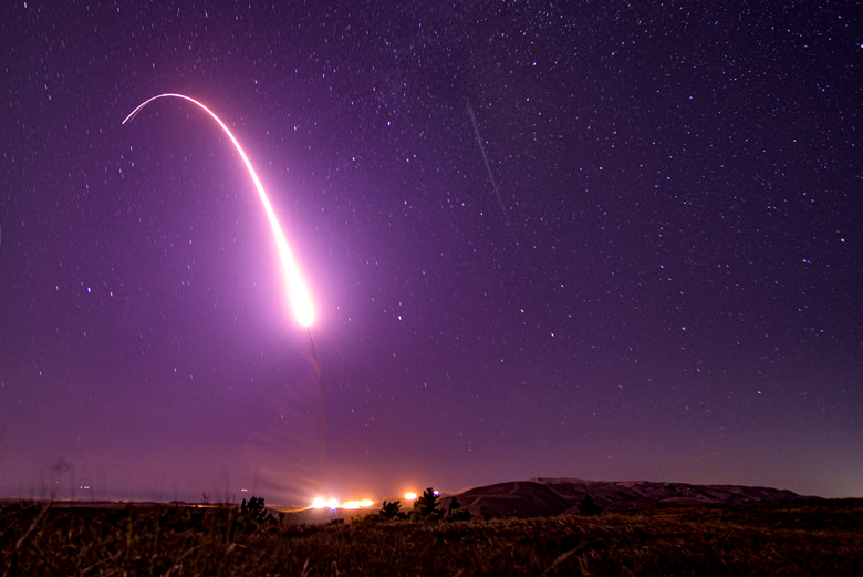 Afgsc Tests Minuteman Iii Missile With Launch From Vandenberg Afb Ballistic Missile Ballistics Vandenberg Air Force Base