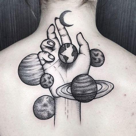 Hippie Tatuaje De La Mano Tatuaje De Planetas Brazos Tatuados
