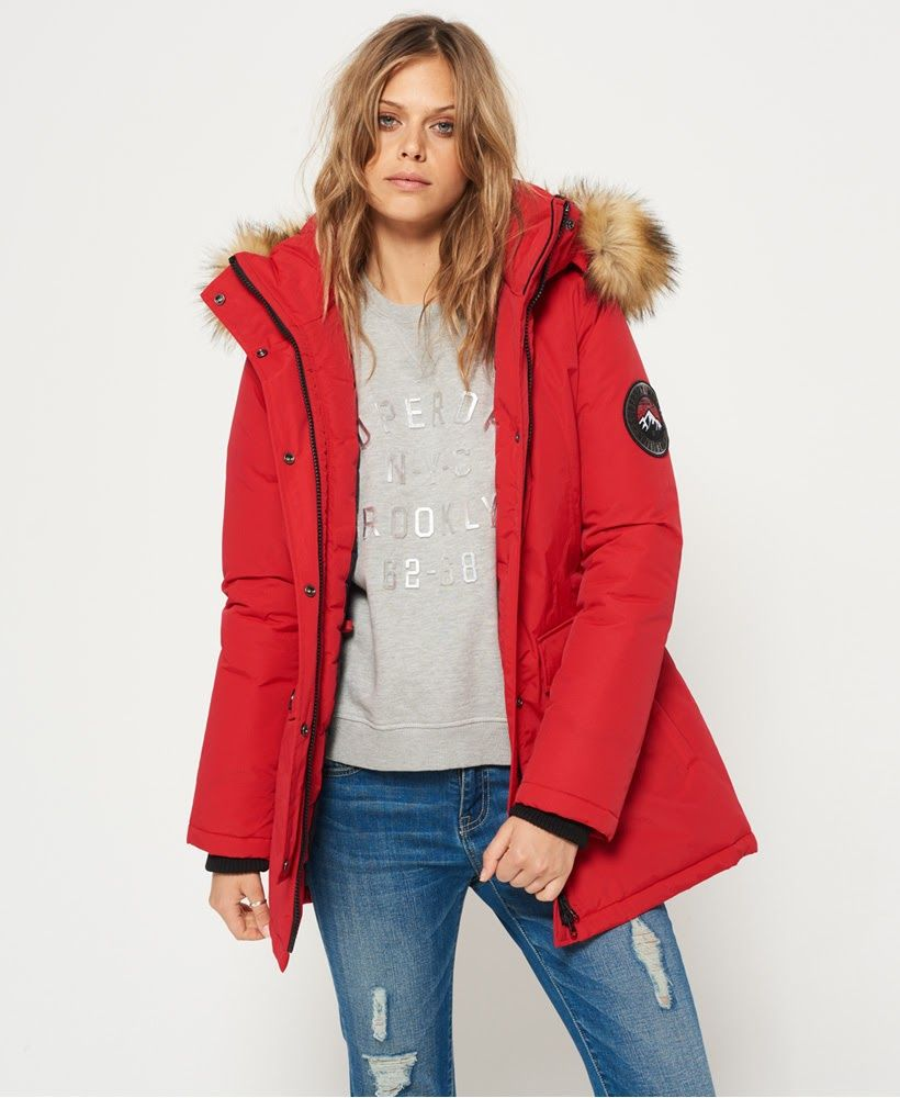 8504c5fd89fa Superdry Ashley Everest Coat Red
