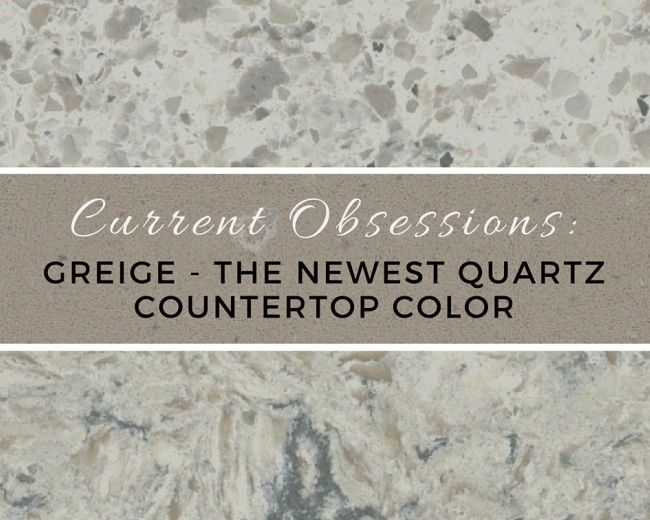 Current Obsessions: Greige   The Newest Quartz Countertop Color