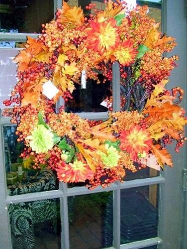 Orange Fall Wreath: