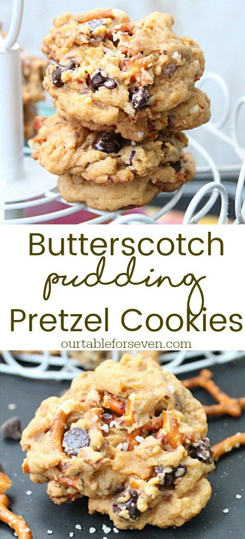Butterscotch Pudding Pretzel Cookies Recipe Bake Pinterest