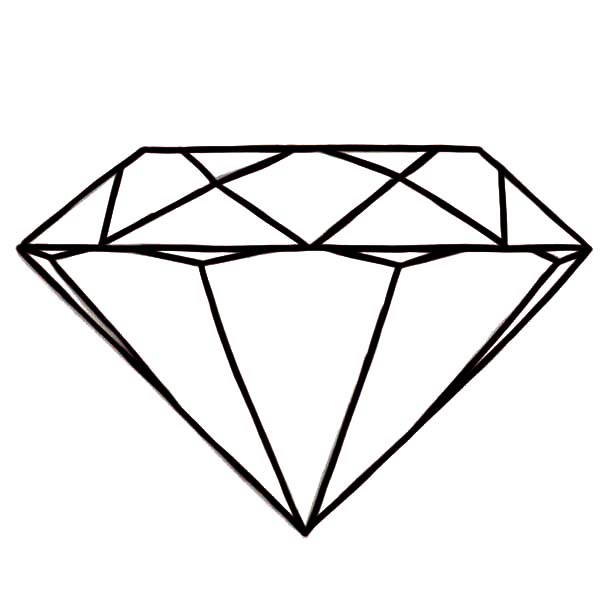 Round Diamond Shape Coloring Pages Kids Play Color
