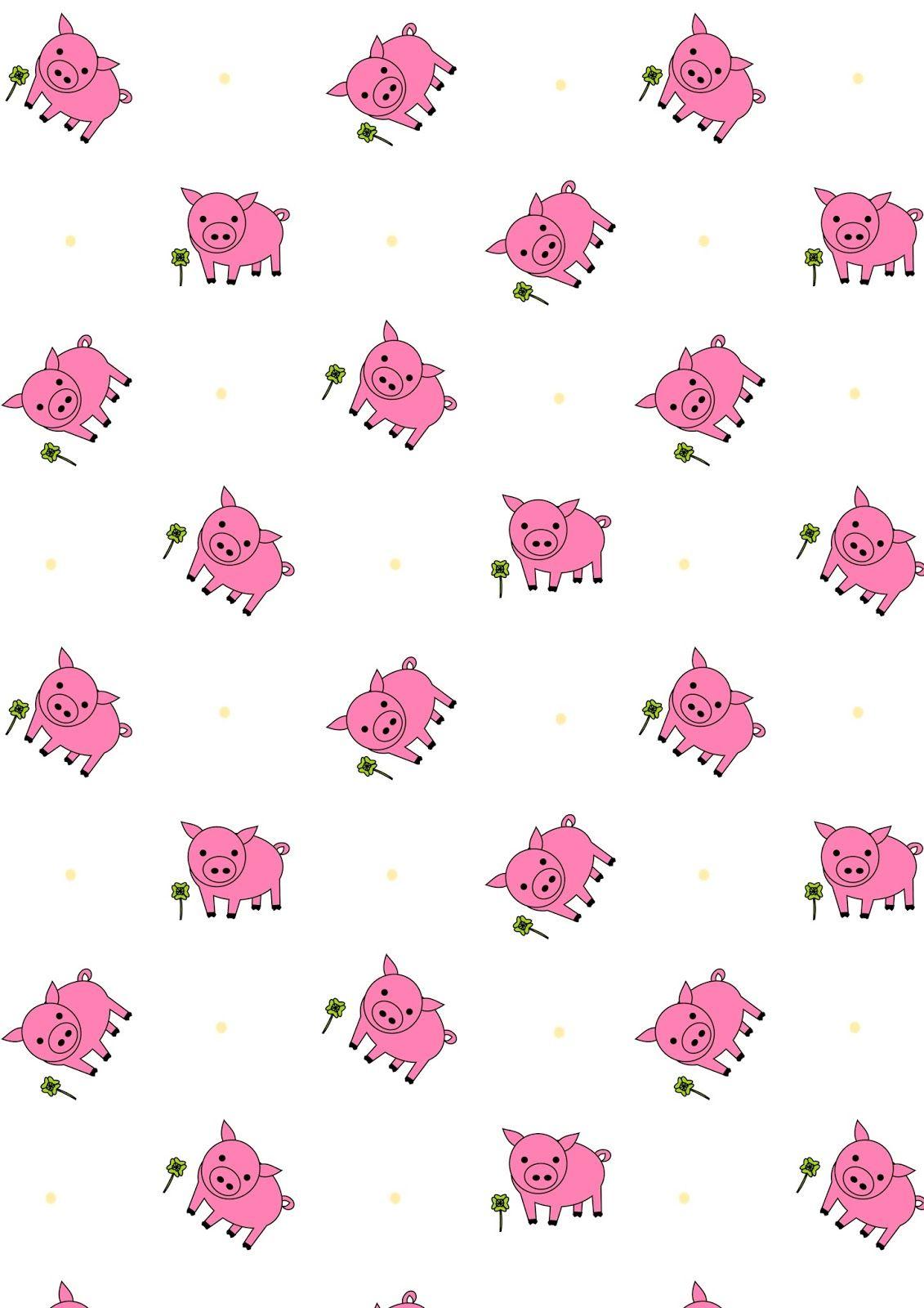free printable lucky pig pattern paper | printables | pinterest