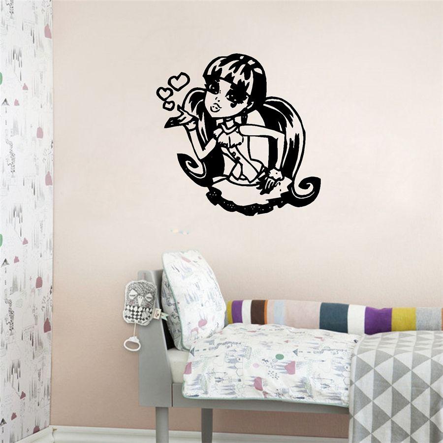 Creative personalized monster high vinyl wall sticker custom name