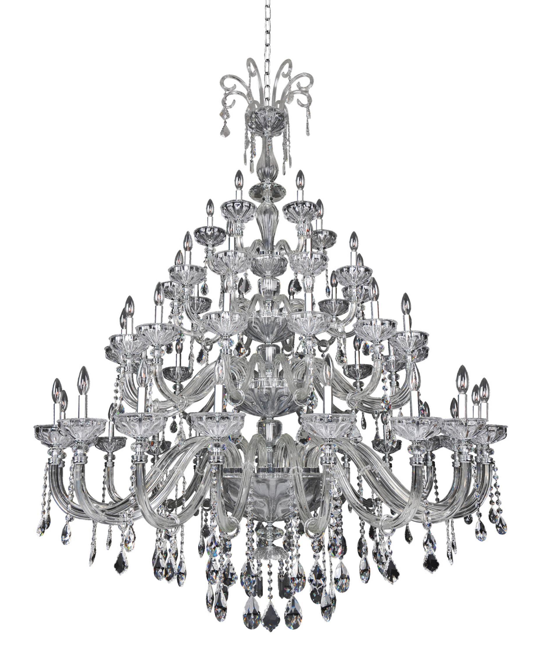 Allegri Clovio 60 Inch Chandelier Crystal Chandelier Chandelier Lighting Candle Style Chandelier