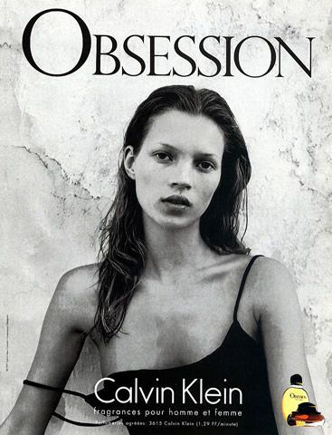 Calvin Klein 'Obsession', 1998. Kate Moss