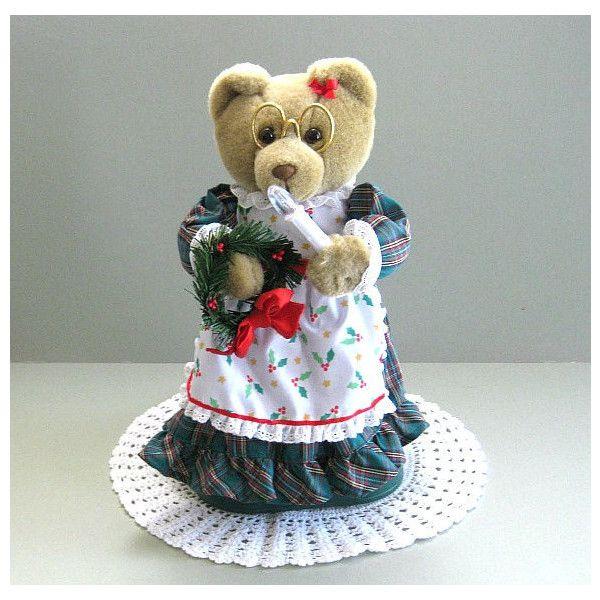 Christmas Bear Teddy Doll Artist Toy Unique Decor