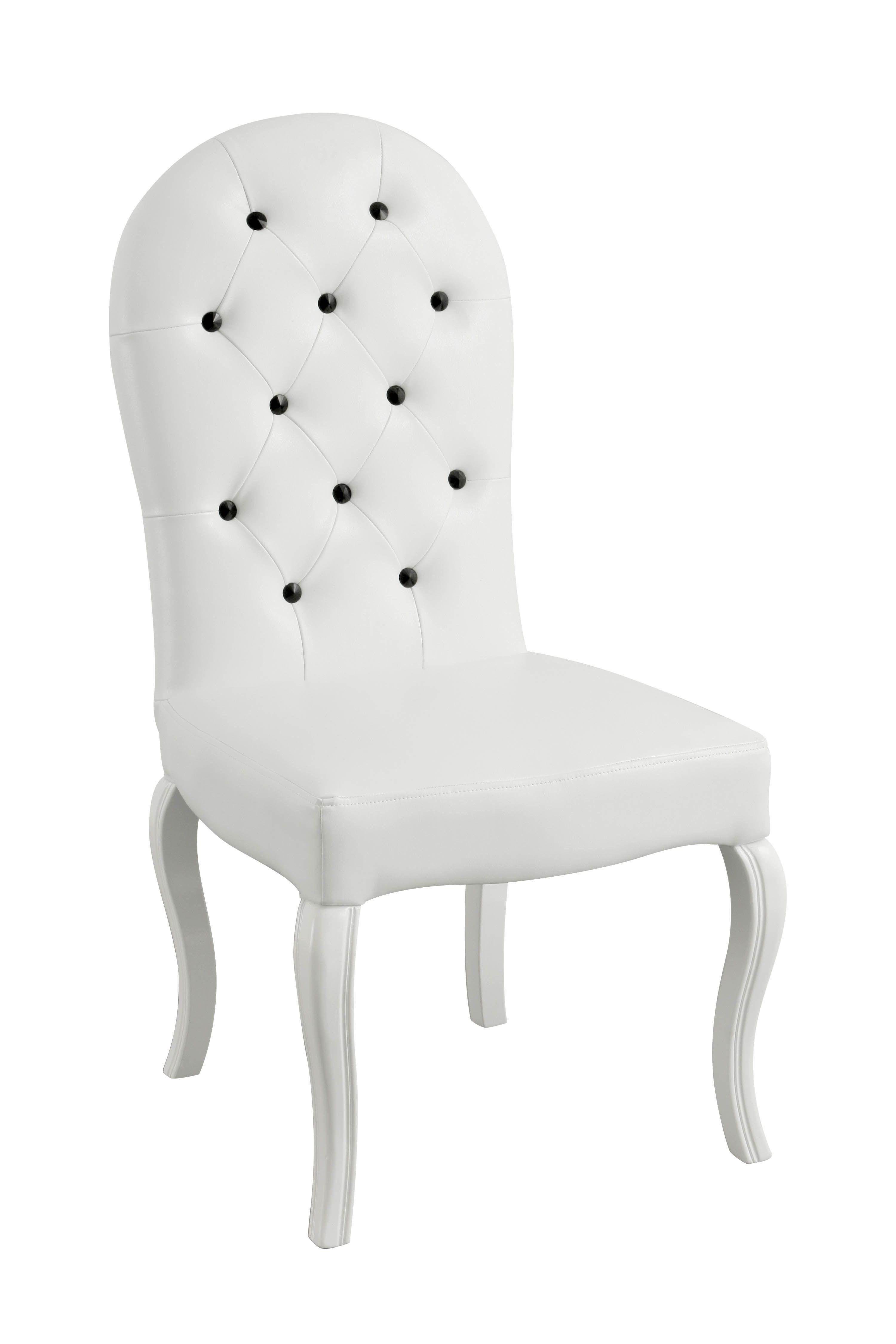 Allure Weiss Esszimmer Stuhl Aus Leder Mit Weissen Beinen Aus Holz Badezimmer Esszimmer Weiss Zimmer Stuhle