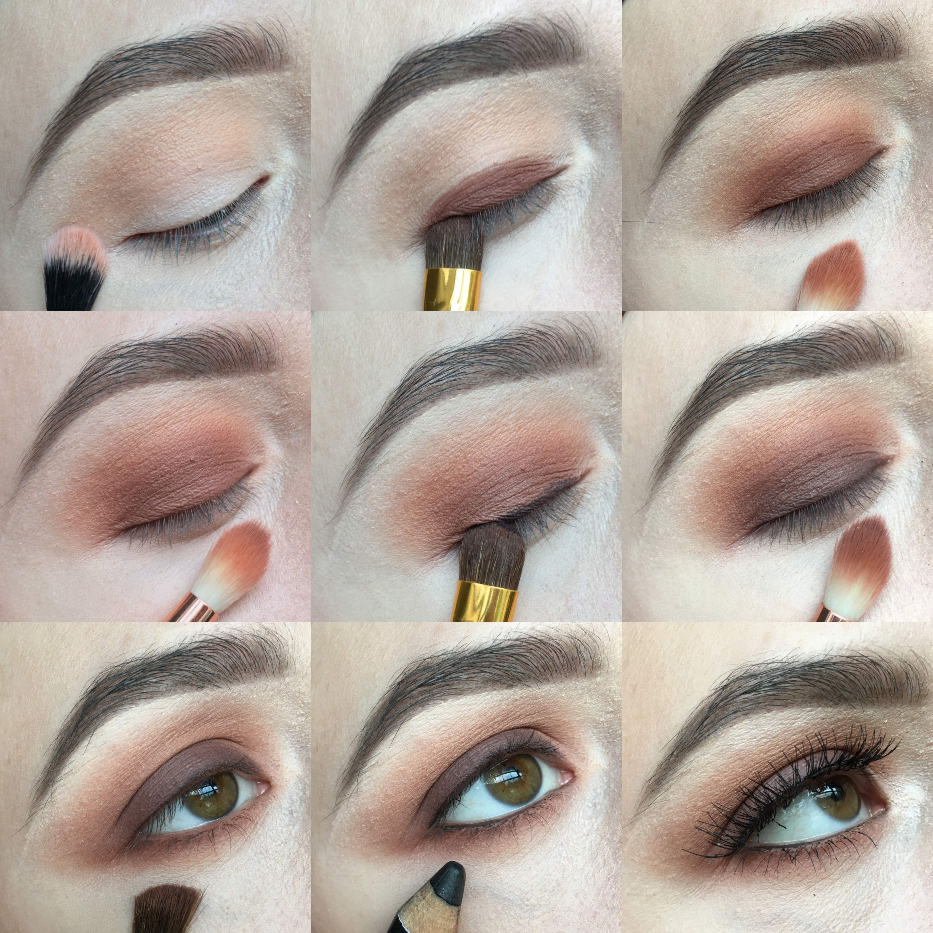 easy brown smokey eye - step by step tutorial | brown smokey