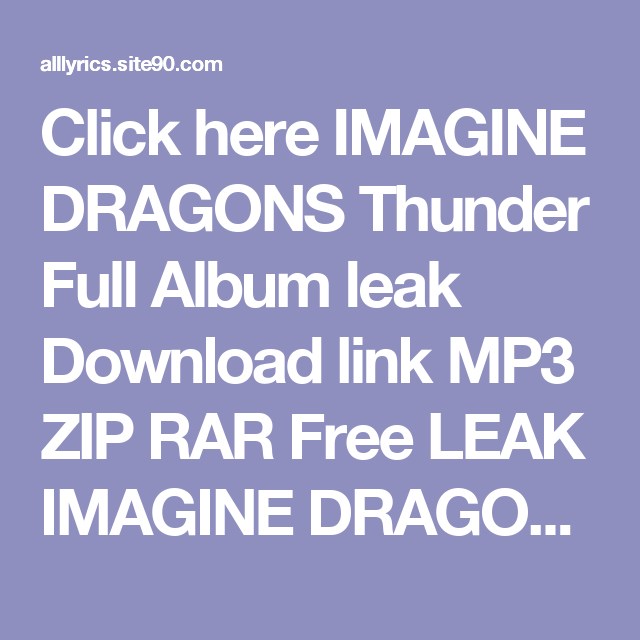 download imagine dragons album free
