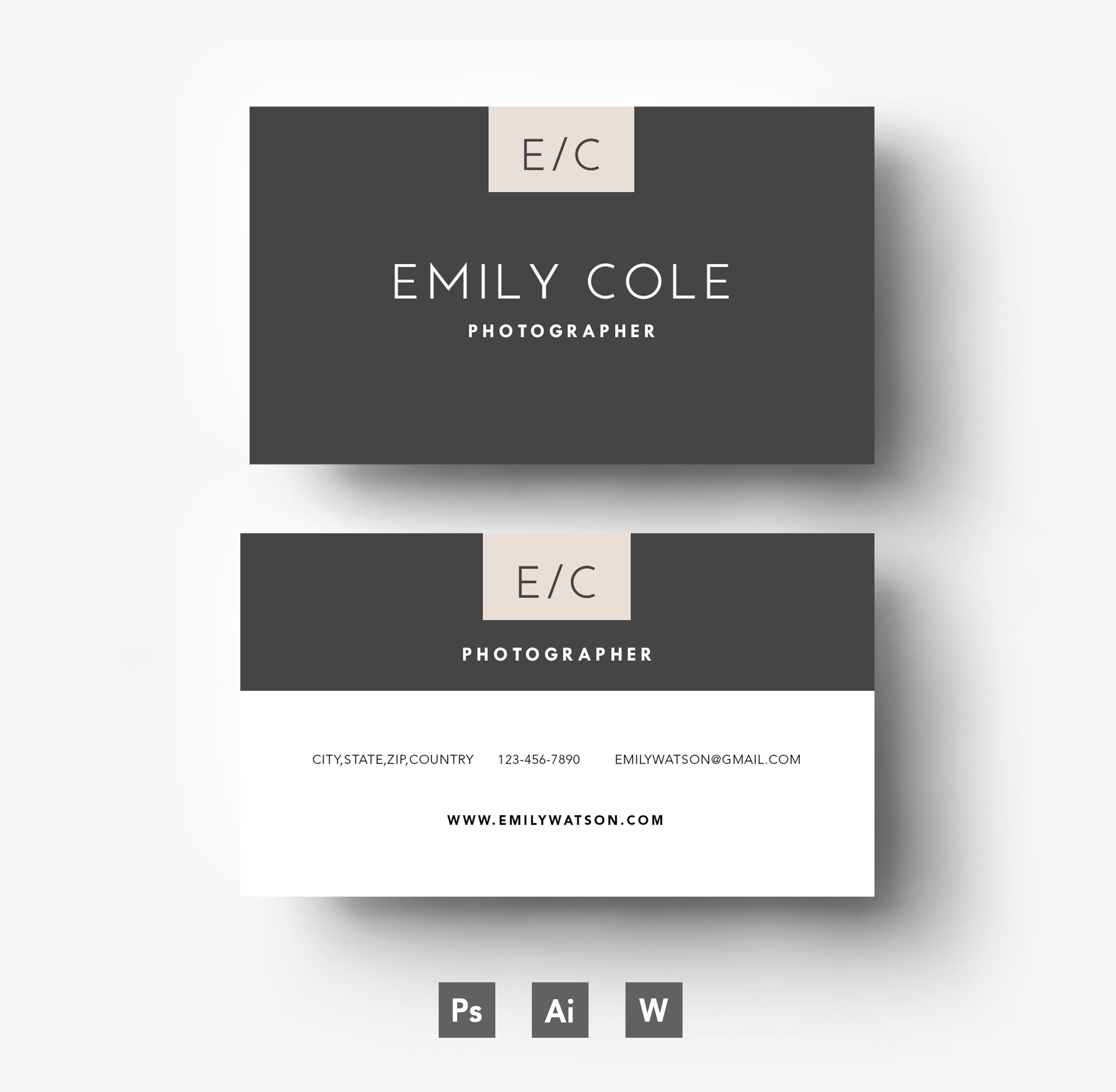 Stylish two side business card template | 00 Graphics Design