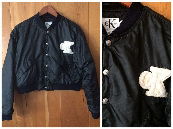Calvin Klein vintage cropped coat / jacket Womes large black