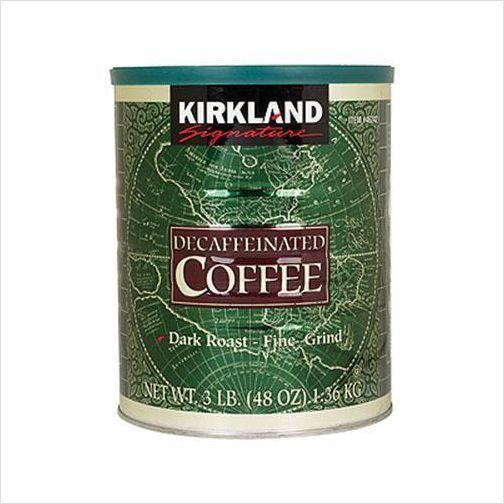 Kirkland Signature Decaf Ground Coffee 48 oz Fine grind. Arabic beans Dard Roast | Decaffeinated coffee. Coffee. Decaf