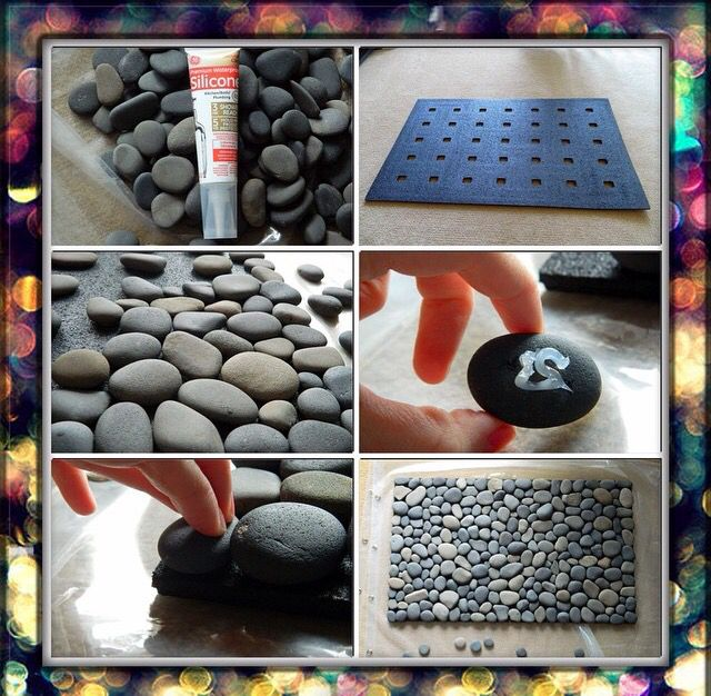 Diy Project Stone Bath Mat Stone Bath River Rock Bath Mat