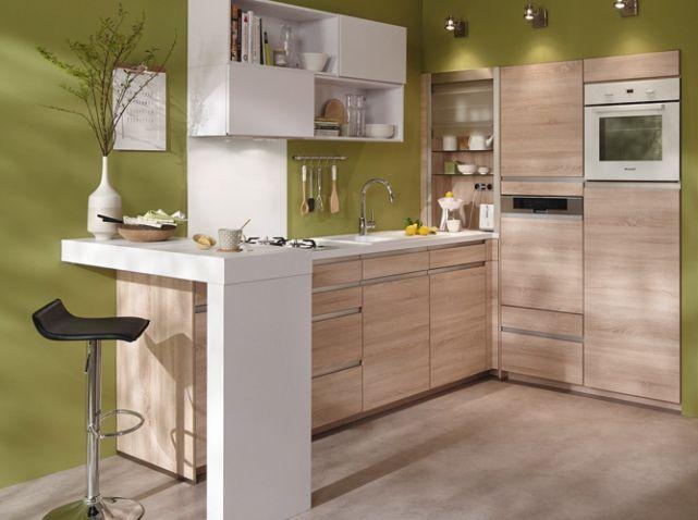 Petite Cuisine En Bois Conforama Cuisines Idees Deco Pinterest - Conforama meuble salon salle a manger pour idees de deco de cuisine