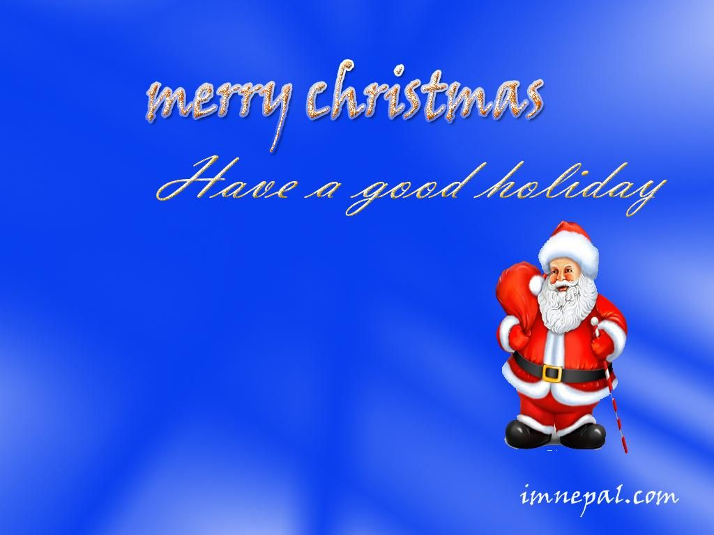 Happy Merry Christmas Greeting Cards Wallpapers Santa Claus Tree