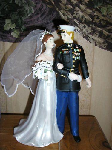 Marine Corps Cake Topper Porcelain Couple | eBay