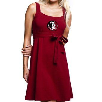 FSU Ladies Garnet Belted Sundress $40