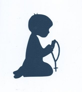 Boy Praying Rosary Silhouette By Hilemanhouse On Etsy 199