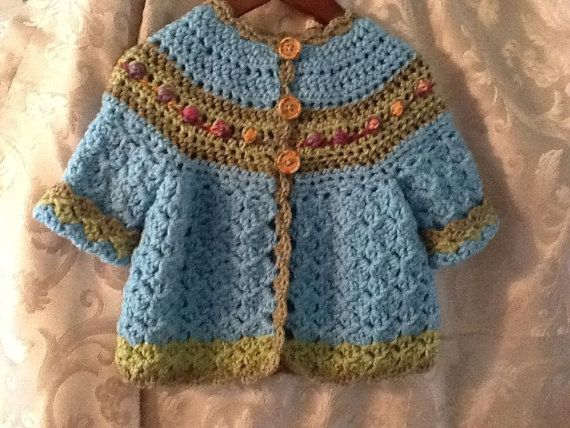 little girls crochet sweater size 6 mo. to 1 year