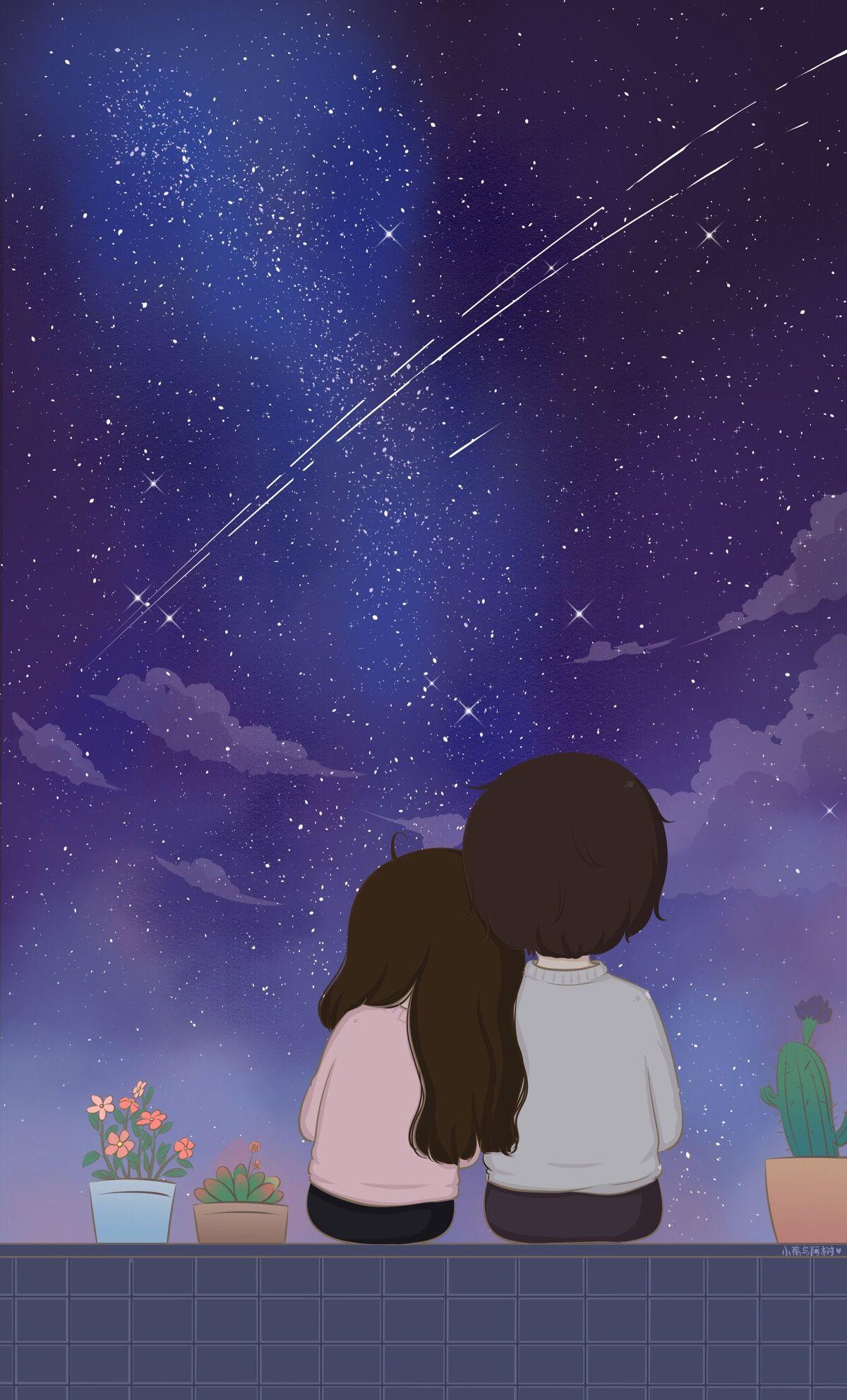 Te Esperando Amorzinho Cute Couple Wallpaper Love Couple Wallpaper Romantic Anime