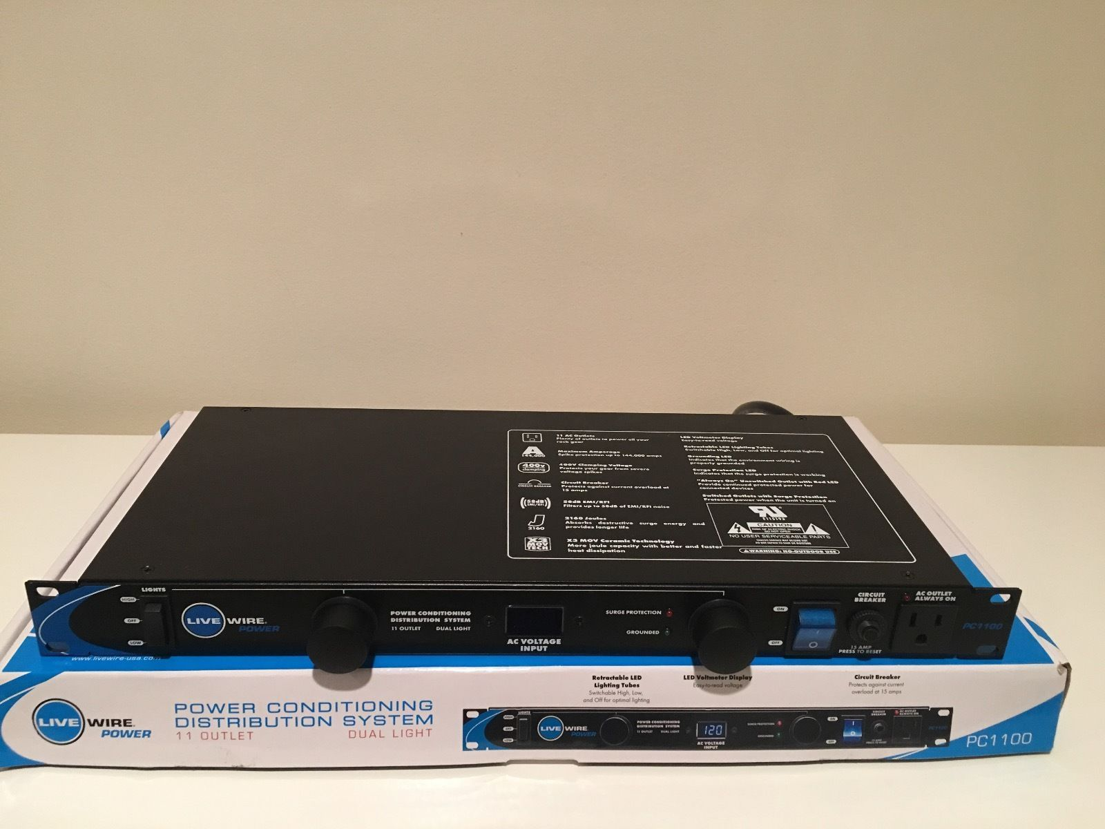 cool Live Wire Power Conditioner and Distribution System 11-outlet ...