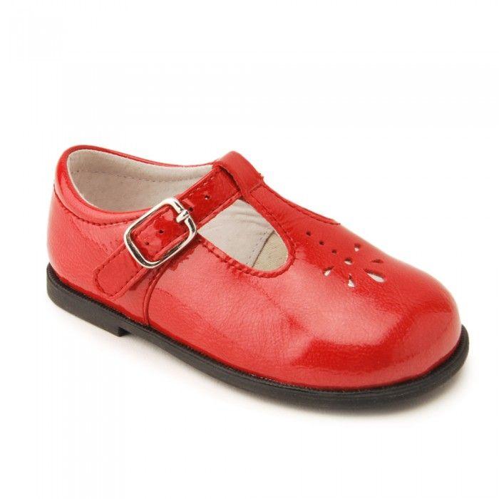 Girls T-bar Buckle First Walking Shoes