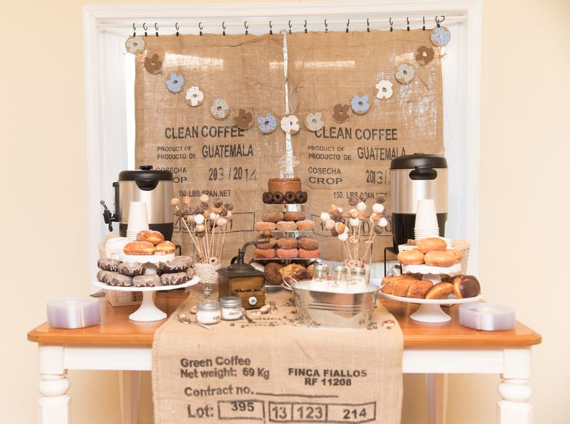 Coffee Donuts Diy Party Coffee And Donuts Coffee Party Coffee Themed Party