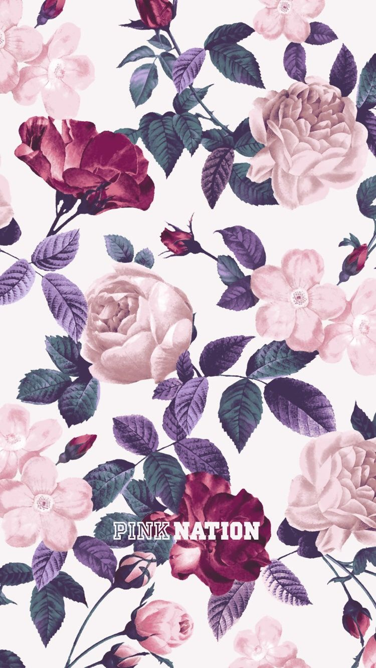 Another Cute Floral Pink Nation Wallpaper Backgrounds In 2019