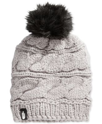 23db461abbe71 The North Face Faux-Fur-Trim Pom Pom Hat - Black