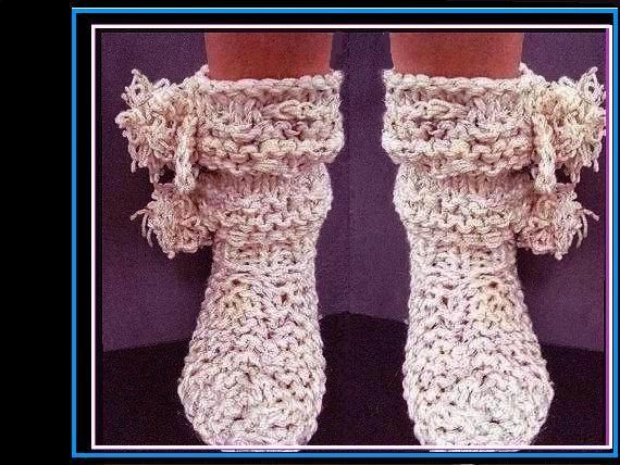 Knitting Pattern Knit Slippers 427 15 Beginner Friendly