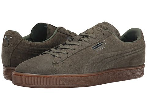 huge selection of 1f613 9e2d3 PUMA The Suede Emboss Burnt Olive/Gum - Zappos.com Free ...
