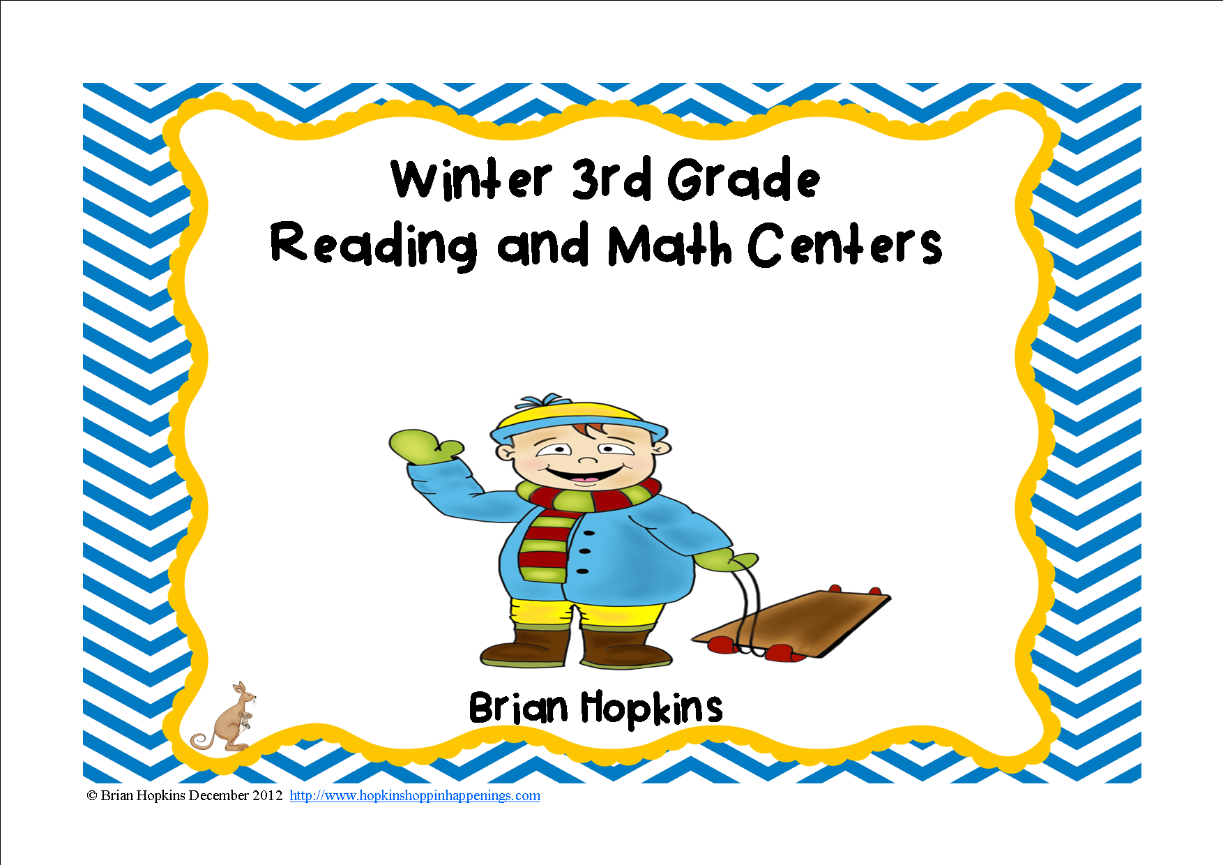 Winter Themed Common Core 3rd Grade Reading And Math